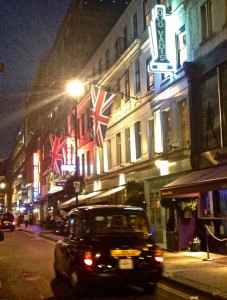 Dean St at night