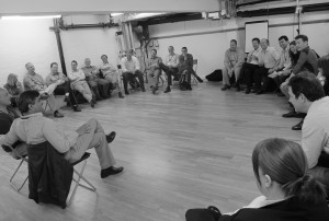 Corporate training session led by Giles